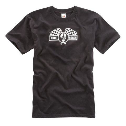 BLACK CAFE RACER T-SHIRT - Speedwear Ltd