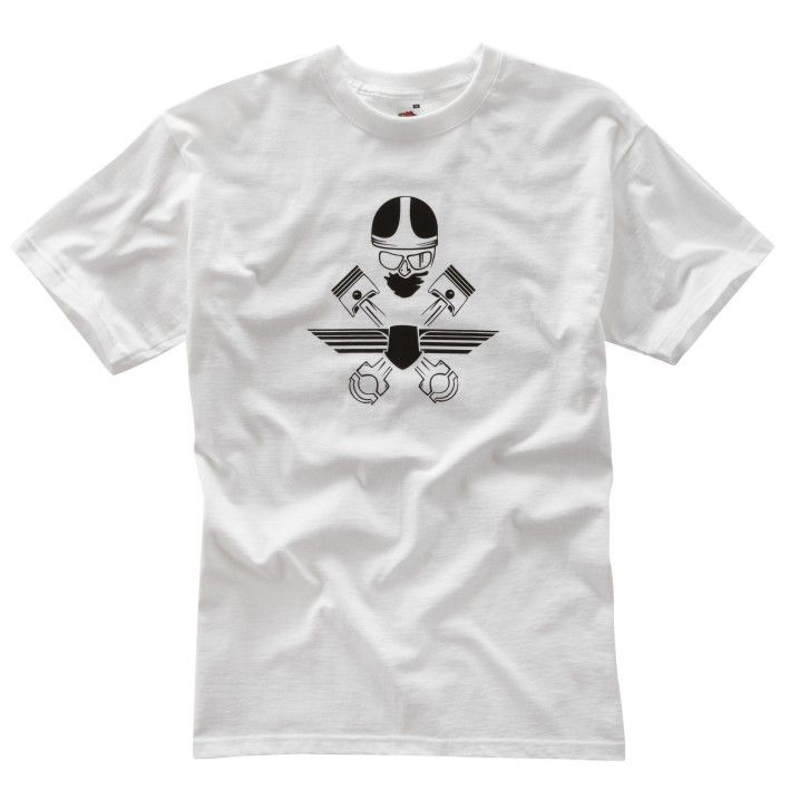 WHITE CROSSED PISTONS T-SHIRT - Speedwear Ltd