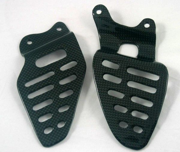 CARBON HEEL PLATES FOR YAMAHA YZF - R6 06 + - Speedwear Ltd