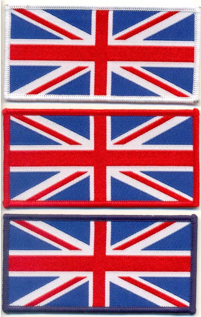 WOVEN UNION JACK SEW ON PATCH LARGE - Speedwear Ltd