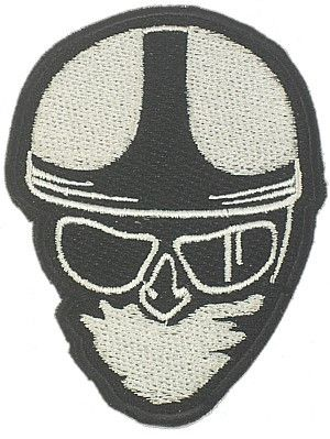 CLASSIC HEAD WOVEN PATCH WHITE - Speedwear Ltd