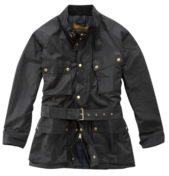 DELUXE TRADITIONAL WAX COTTON MOTORCYCLE JACKET - Speedwear Ltd - 2