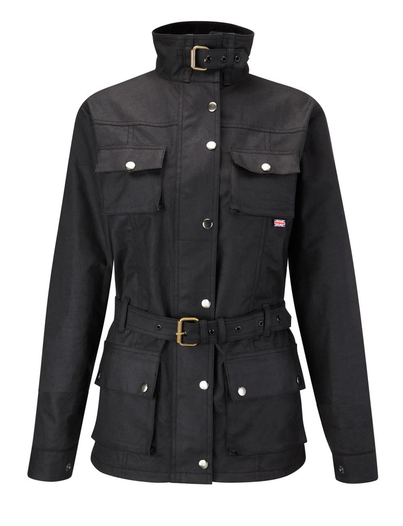 HAVANA WOMAN'S WAX COTTON MOTORCYCLE JACKET - Speedwear Ltd - 1