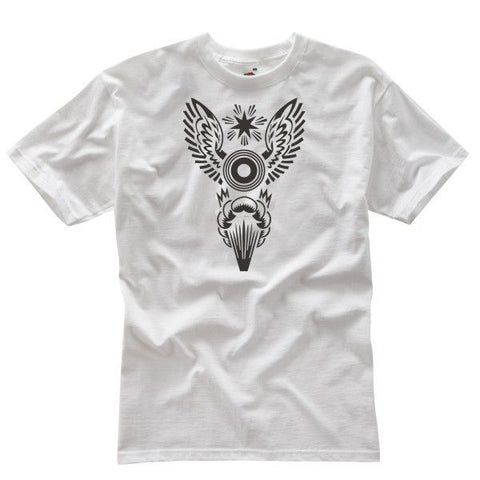 THE BOMB WHITE WITH BLACK LOGO - Speedwear Ltd