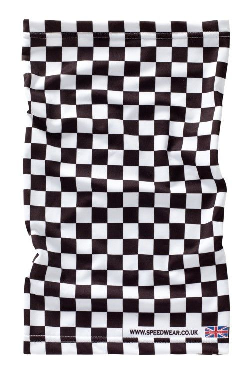 CHEQUERED FLAG NECK WARMER - Speedwear Ltd