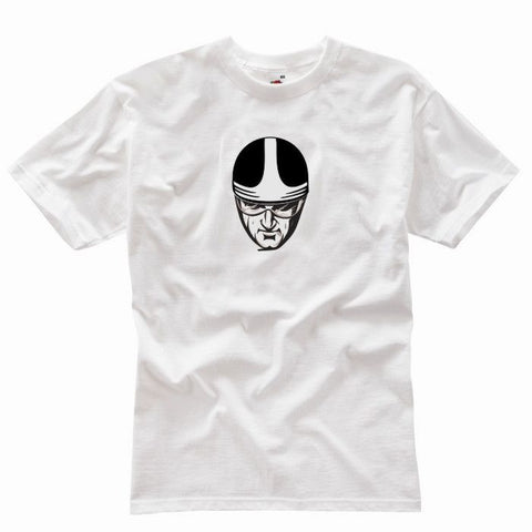 CLASSIC RACER WHITE T-SHIRT - Speedwear Ltd