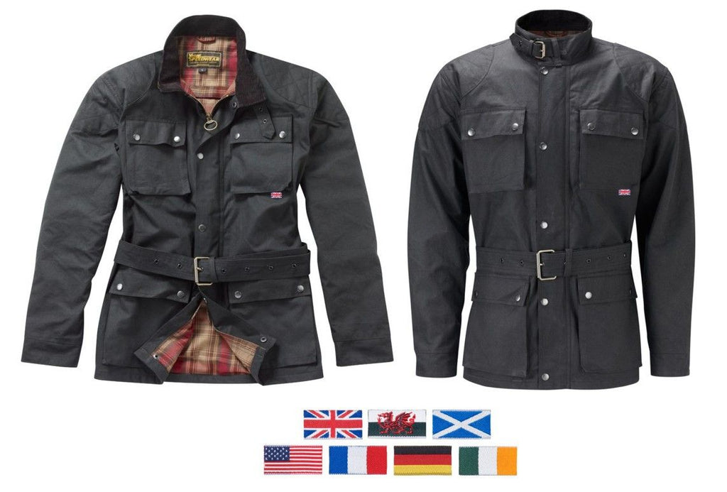 THE GRESFORD WAX COTTON MOTORCYCLE JACKET - Speedwear Ltd