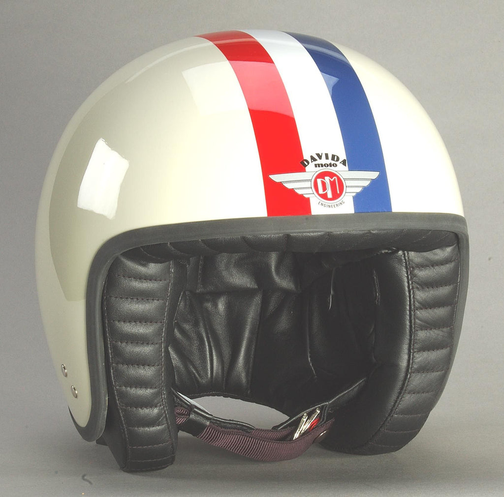 DAVIDA JET TT CREAM RED/WHITE/BLUE - Speedwear Ltd