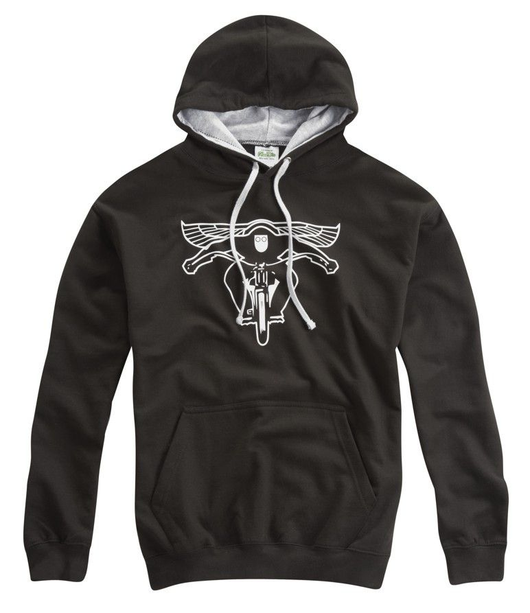 FLYING BIKER HOODED TOP GREY - Speedwear Ltd