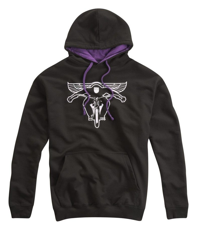 FLYING BIKER HOODED TOP PURPLE - Speedwear Ltd