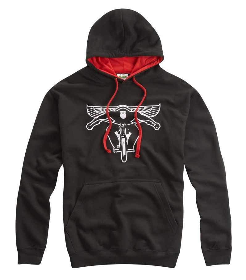 FLYING BIKER HOODED TOP RED - Speedwear Ltd