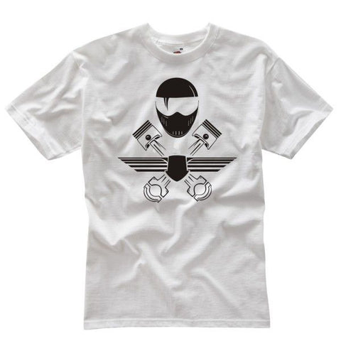 FULL FACE RACER T-SHIRT WHITE - Speedwear Ltd