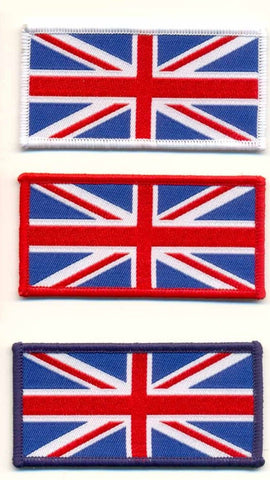 WOVEN UNION JACK IRON ON PATCH SMALL - Speedwear Ltd