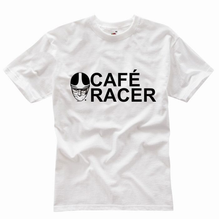 THE CAFE RACER WHITE T-SHIRT - Speedwear Ltd