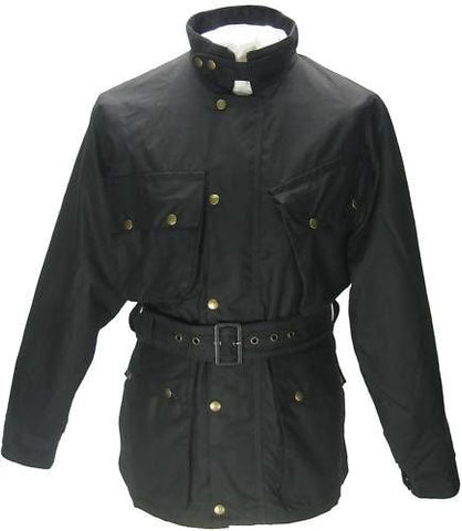 TRADITIONAL WAX COTTON MOTORCYCLE JACKET - Speedwear Ltd
