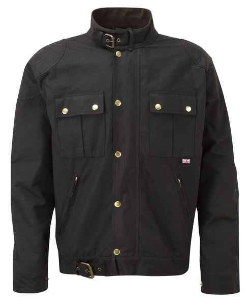 BROWN TILSTOCK® WAX COTTON MOTORCYCLE JACKET - Speedwear Ltd - 1