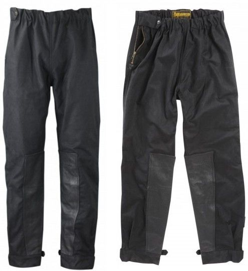 WAXED COTTON MOTORCYCLE TROUSERS - Speedwear Ltd