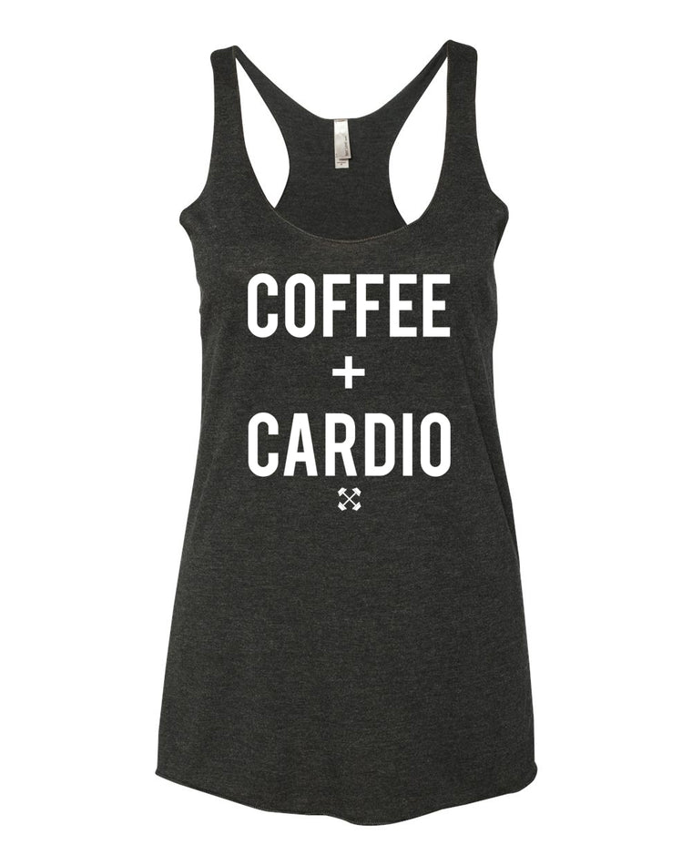 Coffee + Cardio | Tri - Blend, Racerback Tank Top