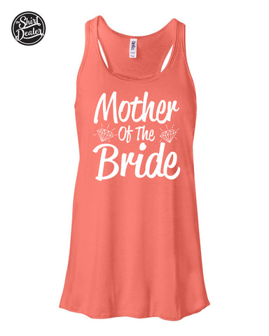 """Mother Of The Bride"" Retro Wedding Tank,Bachelorette Tank, Wedding Party Tank Various Colors"