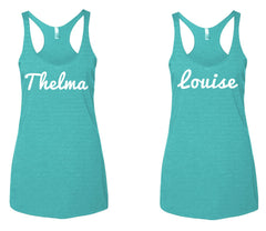 Thelma & Louise -  Tri blend, Racerback Tank Top -  Various colors available