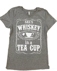 She's Whiskey In A Tea Cup - Ladies, Tri Blend T Shirt. Various colors available