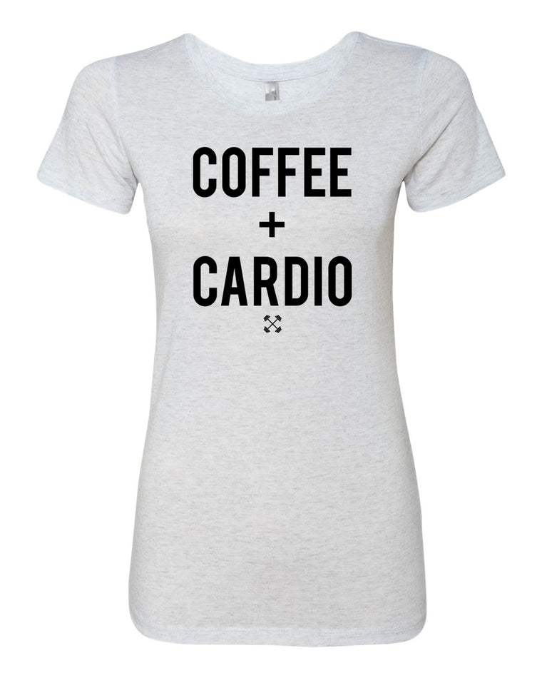 Coffee + Cardio - Ladies, Tri Blend T Shirt