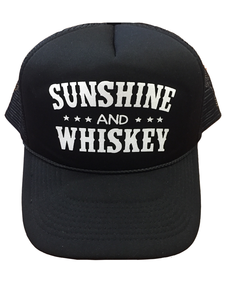 Sunshine and Whiskey - Foam Trucker Cap