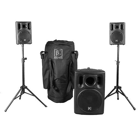 "Beta 3® US-800 System 860W 2 x 6"" Loudspeakers + 1 x 12"" Subwoofer"