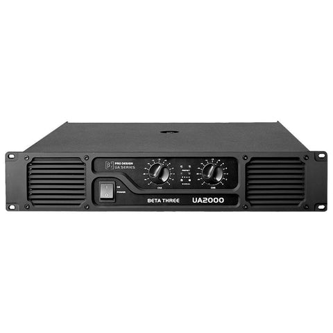 Power Amplifiers - Beta 3® UA2000 2U 2 X 1000W Power Amplifier