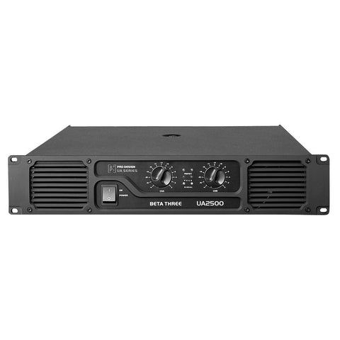 Power Amplifiers - Beta 3® UA2500 2U 2 X 1250W Power Amplifier