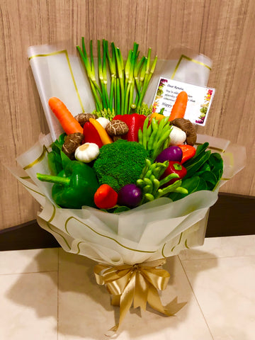 Vegetables Hand Bouquet Sg |Mother's Day Bouquet Singapore | Best Mother's Day Gift | Florist Sg