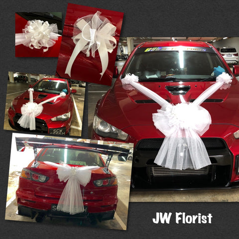 Bridal Car Decor | Wedding Car Decoration Singapore