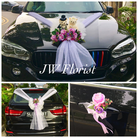 Bridal Car Decor Flowers Singapore | Wedding Car Decoration