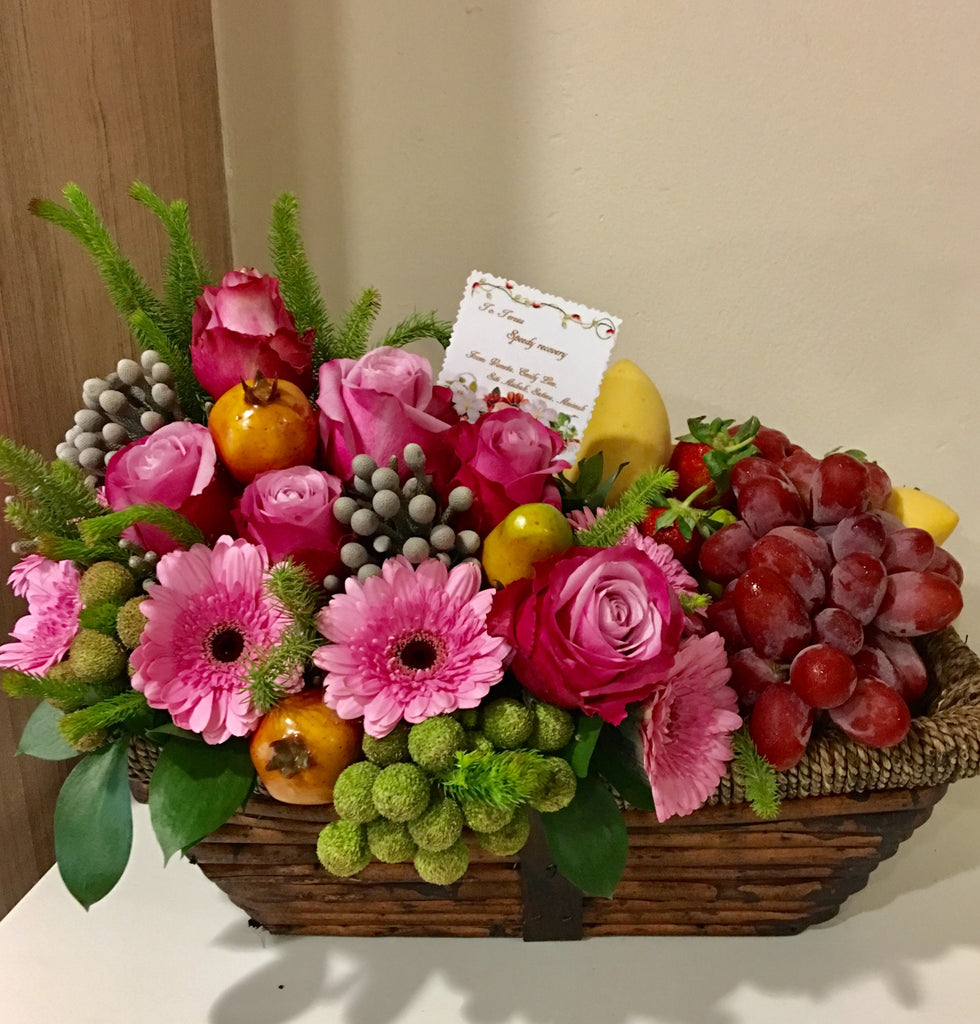 Get Well Soon | Fruit and Flower Basket | Flower Delivery Singapore ...