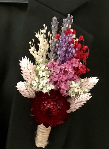 Dried Flower Corsage | Boutonniere | Florist Singapore | Flower Delivery