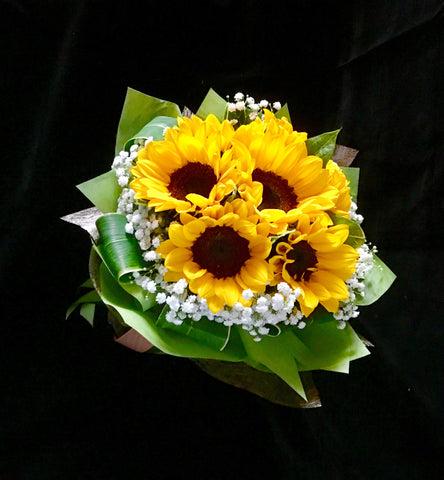 Sunflower Hand Bouquet Singapore | Flower Delivery Singapore | Florist Singapore