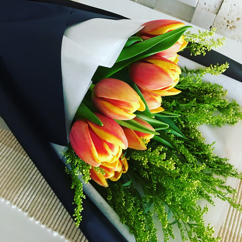 Tulips Hand Bouquet HB636