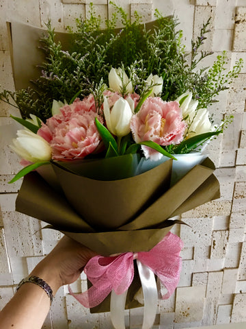 Tulips Hand Bouquet Singapore | Flower Delivery Singapore | Florist Singapore