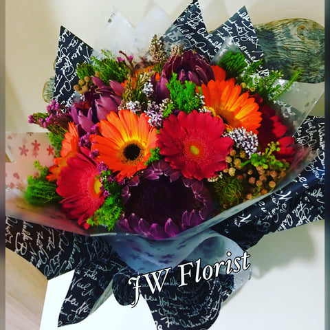 Mixed Flowers Hand Bouquet Singapore | Flower Delivery Singapore | Florist Singapore