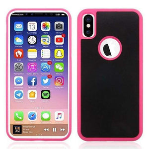 Coque Anti-Gravité Pour iPhone - iPhone X / Rose - iPhone Cases