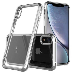 Coque de luxe en chrome transparent haute protection pour iPhone - iPhone X / Argent