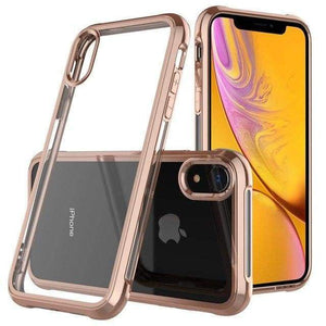 Coque de luxe en chrome transparent haute protection pour iPhone - iPhone X / Doré