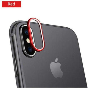 Protecteur Camera iPhone Haute Qualité - iPhone XS Max / Rouge