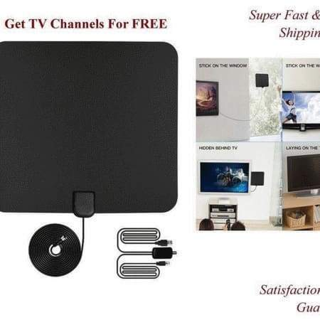 80 Miles Indoor Ultra Amplified HDTV Antenna High Reception Antenna for TV Signals digiital TV Antenna Directional for 4K Vhf Uhf 1080P Amplified