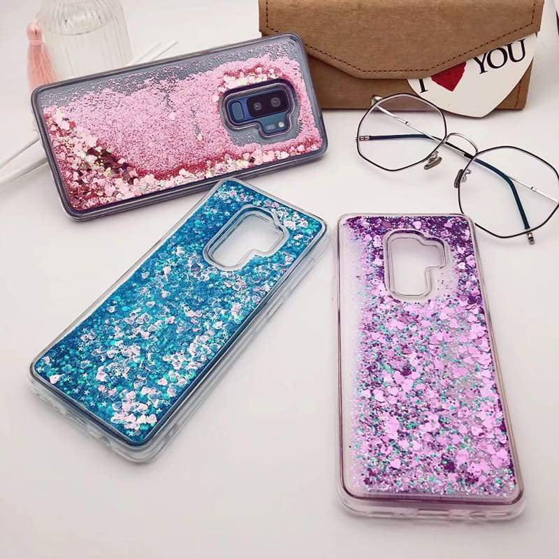 for Samsung Galaxy S9 case Back cover Bling Glitter Dynamic Quicksand Liquid Case for samsung S9 plus cover Galaxy S9 coque (12)