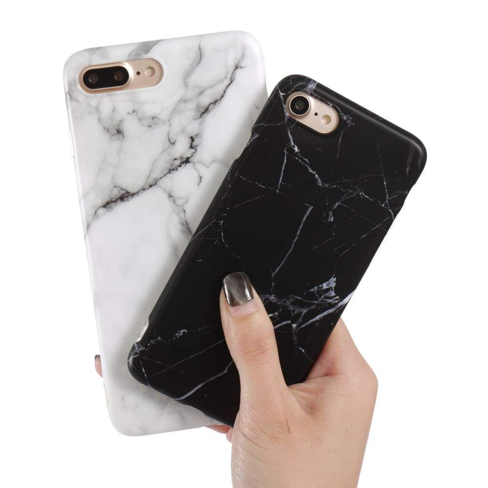 Luxury Marble Pattern i 7 Phone Cover Case For iPhone 7 Plus Soft TPU Back Cover For iPhone7 Plus Black Phone Accessories Coque (1)