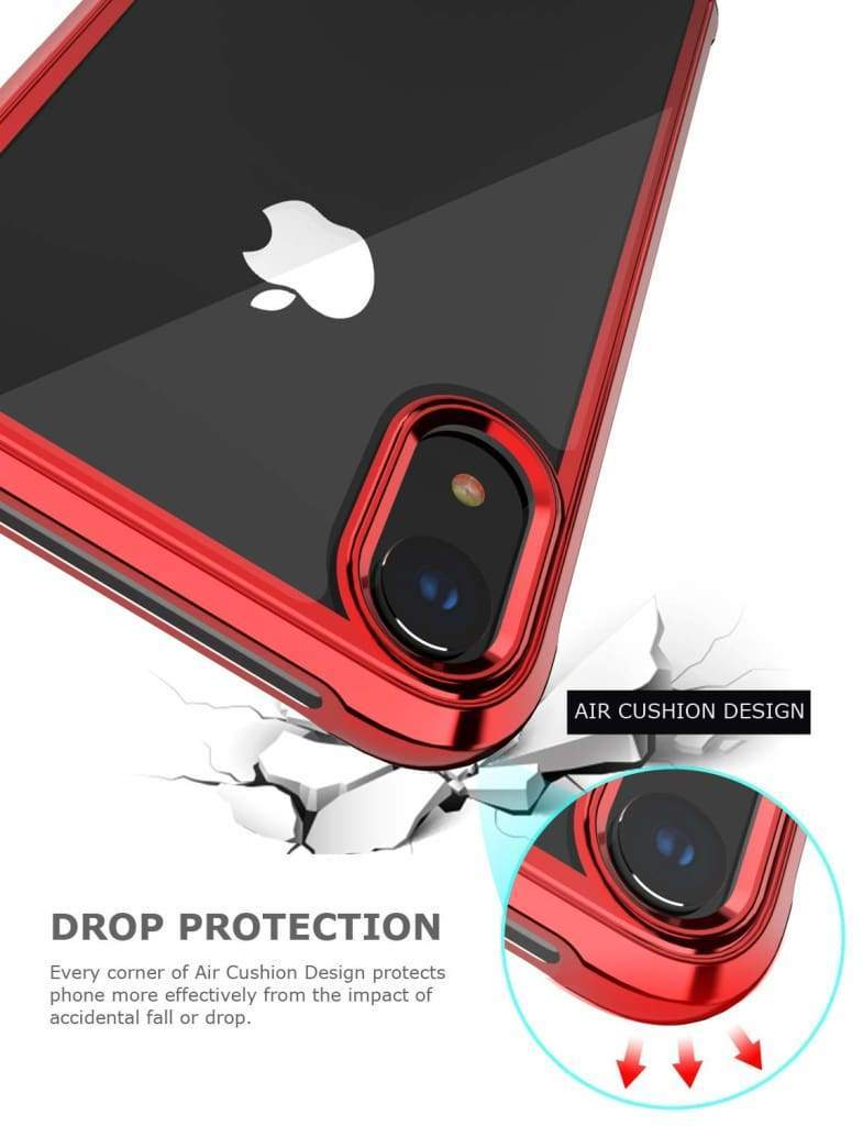 Coque de luxe en chrome transparent haute protection pour iPhone
