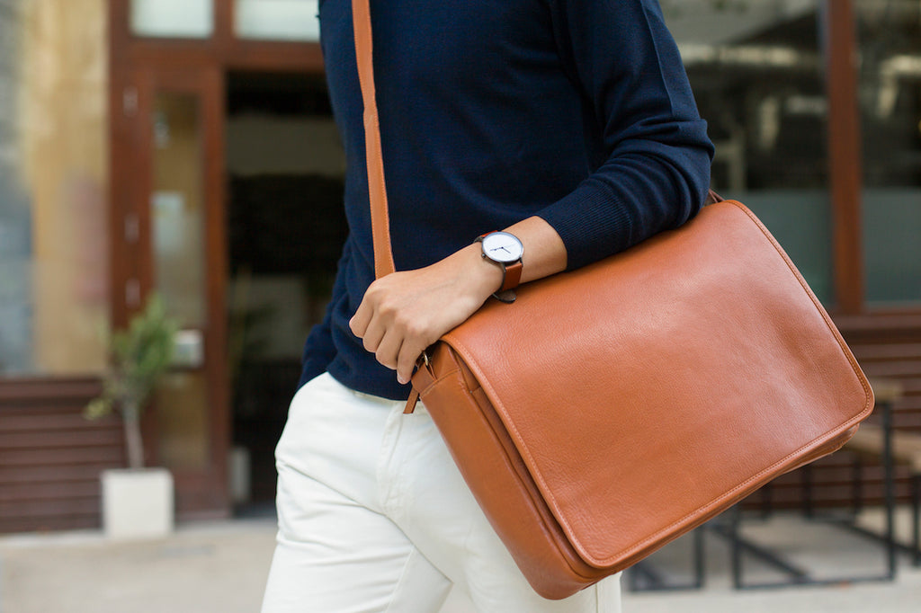 messenger bag ethical leather
