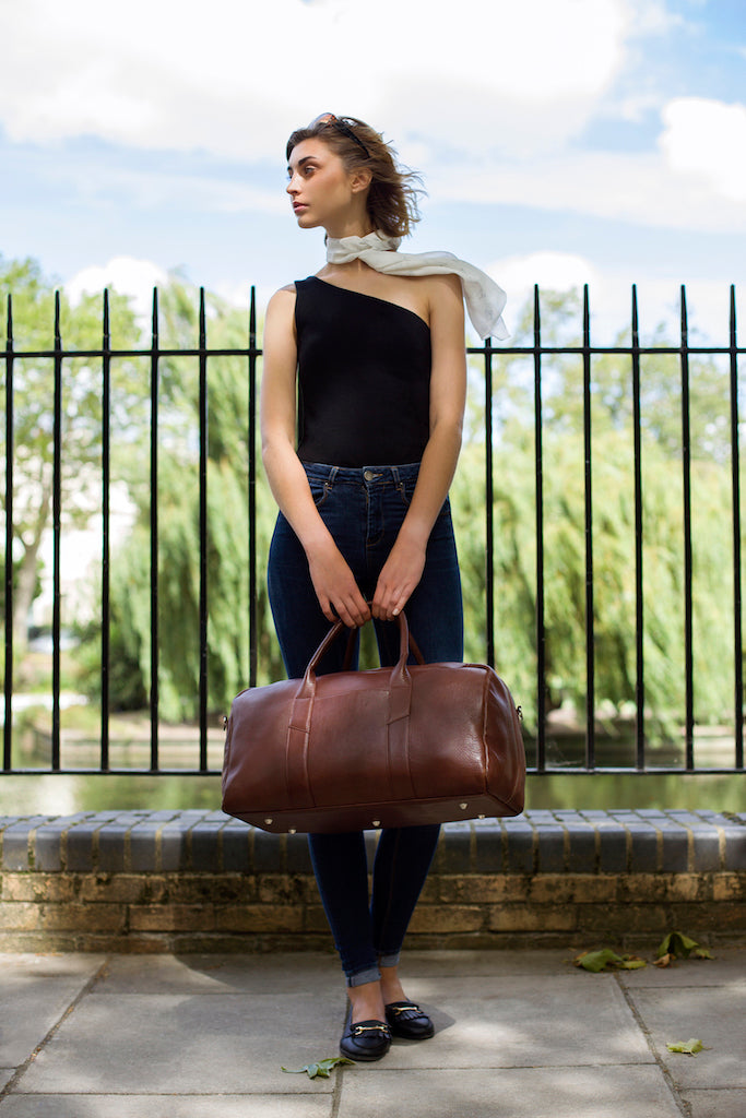 weekender bag ethical leather