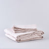 Organic Belgian Linen Sheet Set in Linen Blush